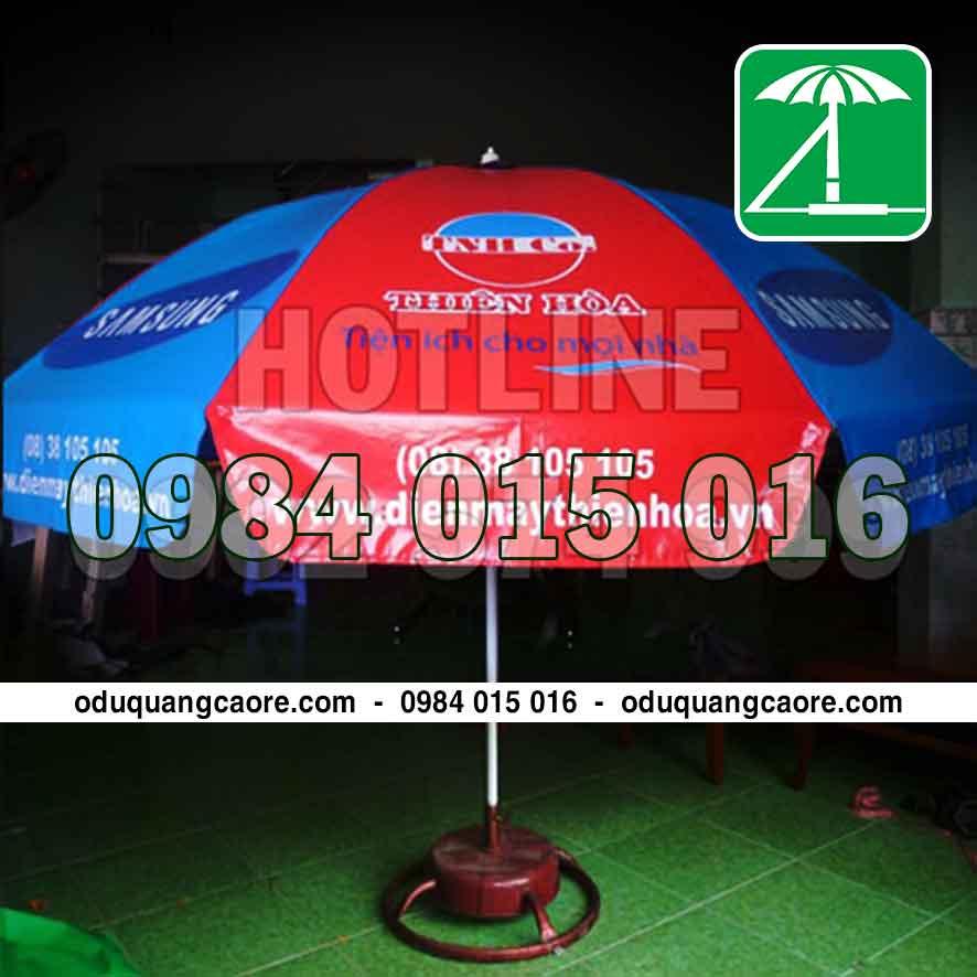 sản xuất ô dù quảng cáo điện máy thiên hòa