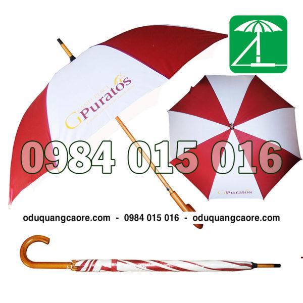 ô dù cầm tay thân gỗ
